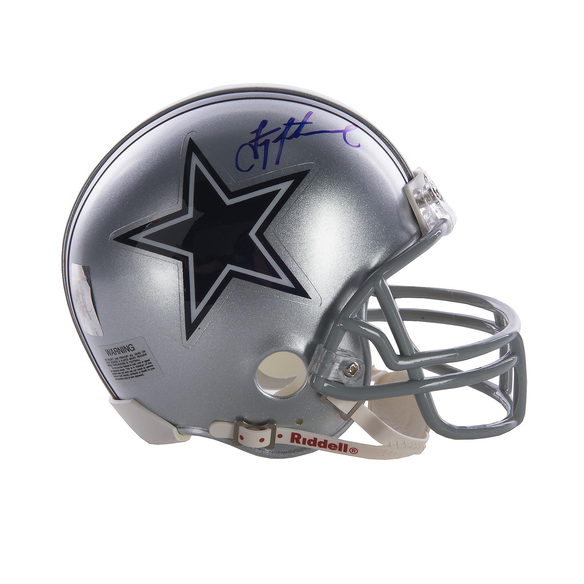 official photos f889c 70cdc Dallas Cowboys Troy Aikman Autographed Mini Helmet