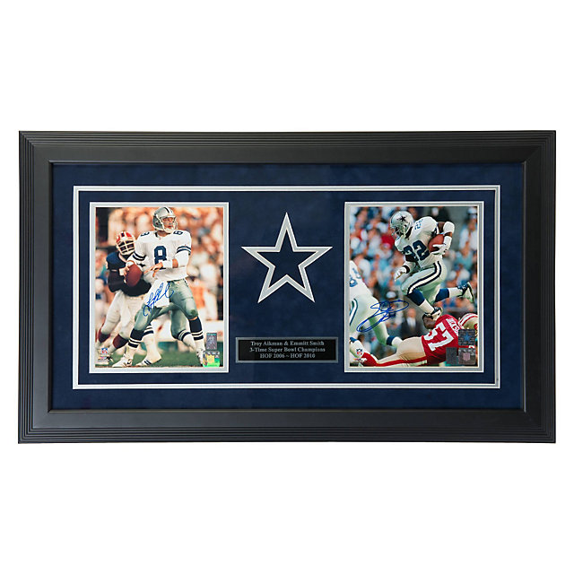 Dallas Cowboys Aikman & Smith Autographed Framed Photos