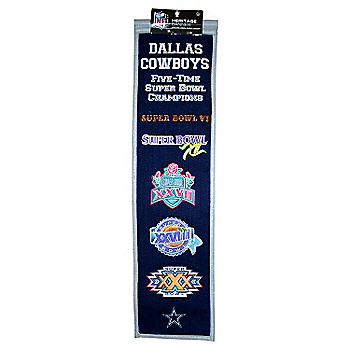 Dallas Cowboys Super Bowl Heritage Banner