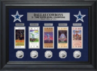 Dallas Cowboys Ticket and Coin Collection Frame