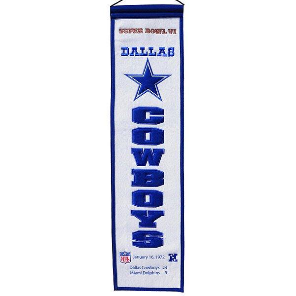 Dallas Cowboys Super Bowl VI Heritage Banner