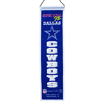 Dallas Cowboys Super Bowl XII Heritage Banner