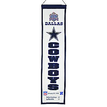Dallas Cowboys Super Bowl XXVII Heritage Banner
