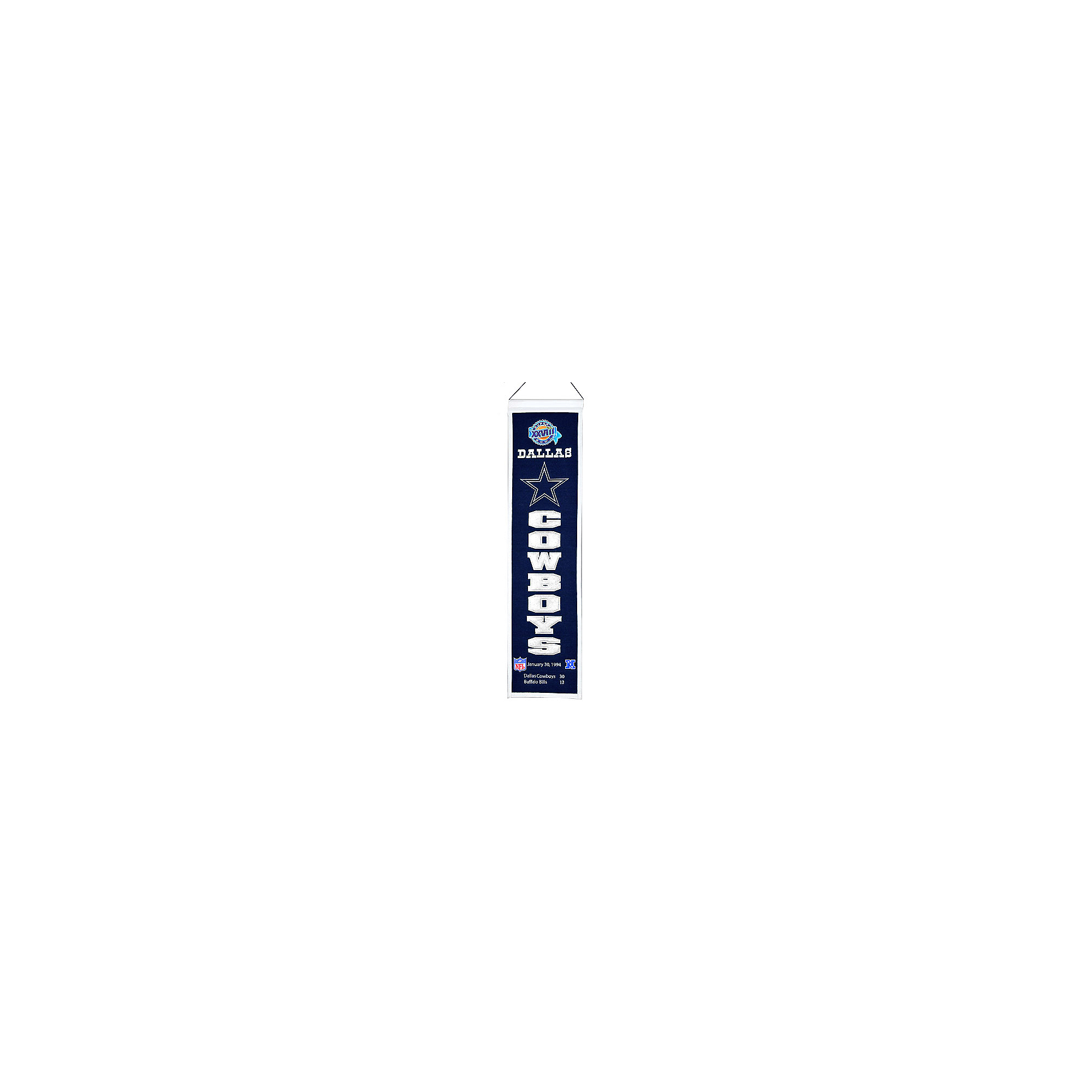 Dallas Cowboys Super Bowl XXVIII Heritage Banner