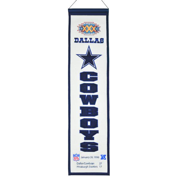Dallas Cowboys Super Bowl XXX Heritage Banner
