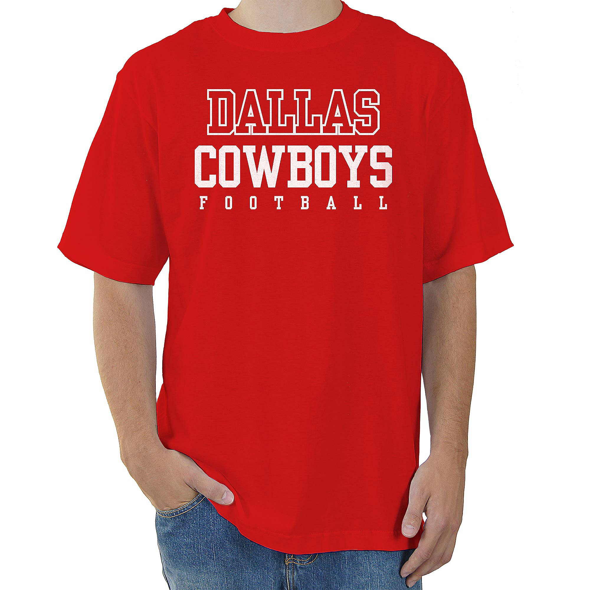 Dallas Cowboys Red Practice T\-Shirt