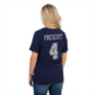 Dallas Cowboys Womens Dak Prescott #4 Bubbled Name and Number Tee