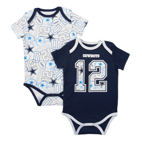 Dallas Cowboys Infant Bubs 2-Pack Bodysuit Set