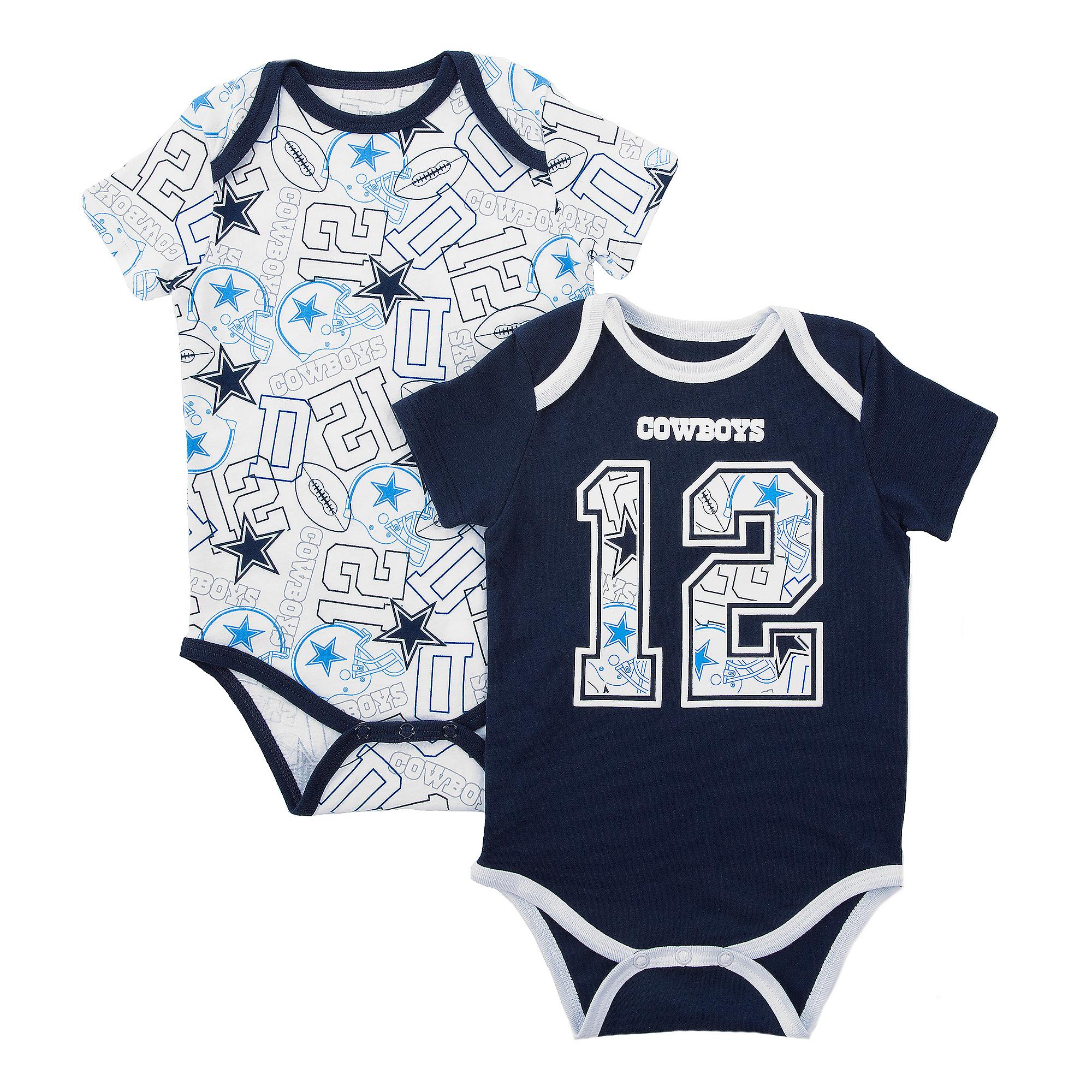 Dallas Cowboys Infant Bubs 2-Pack Bodysuit Set
