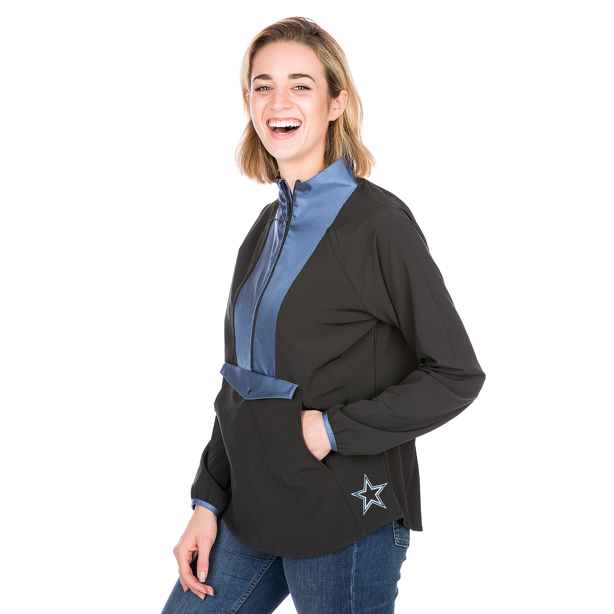 Dallas Cowboys Shock Danny Half-Zip Jacket