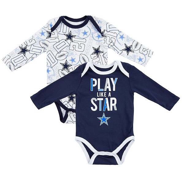 Dallas Cowboys Infant Doxin 2-Pack Bodysuit Set