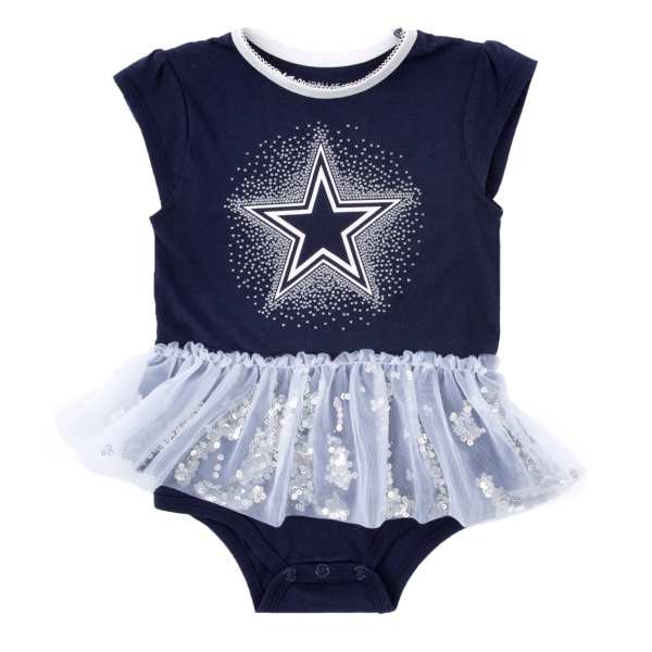 Dallas Cowboys Infant Prissy Bodysuit