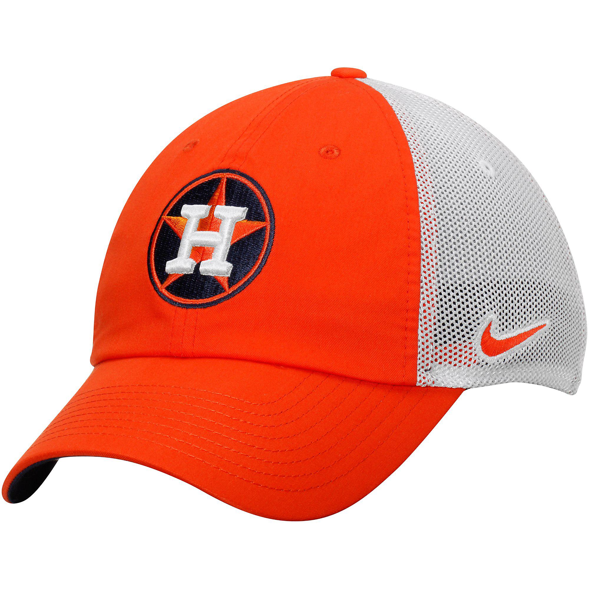 Houston Astros Nike Dri-FIT Fabric Mix Adjustable Cap