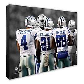 Dallas Cowboys 16 x 20 Triplet Canvas