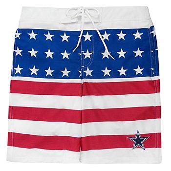 Dallas Cowboys Patriotic Swim Trunks