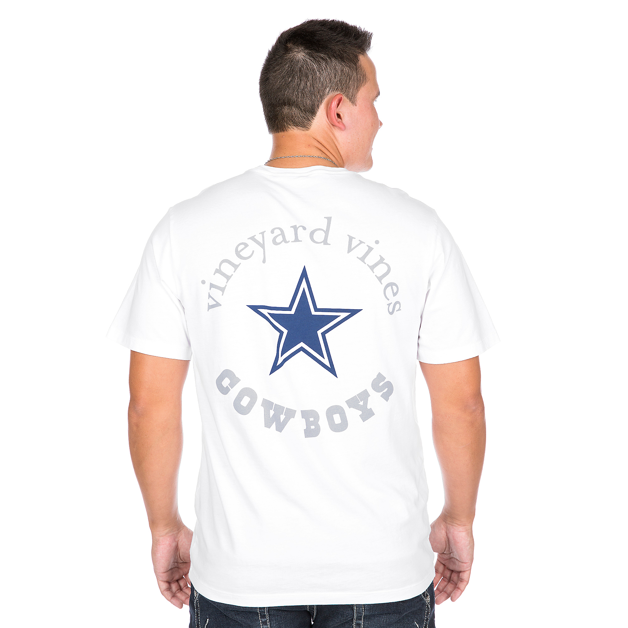 Dallas Cowboys Vineyard Vines Star Pocket Tee