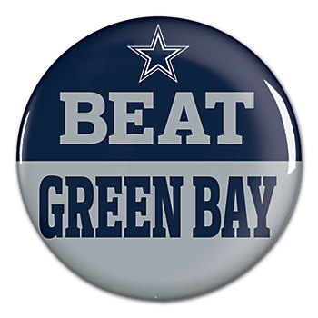 Dallas Cowboys Beat Packers Button