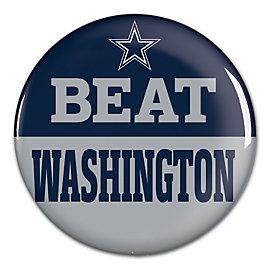 Dallas Cowboys Beat Redskins Button