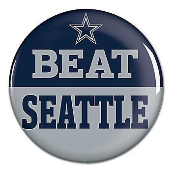 Dallas Cowboys Beat Seahawks Button