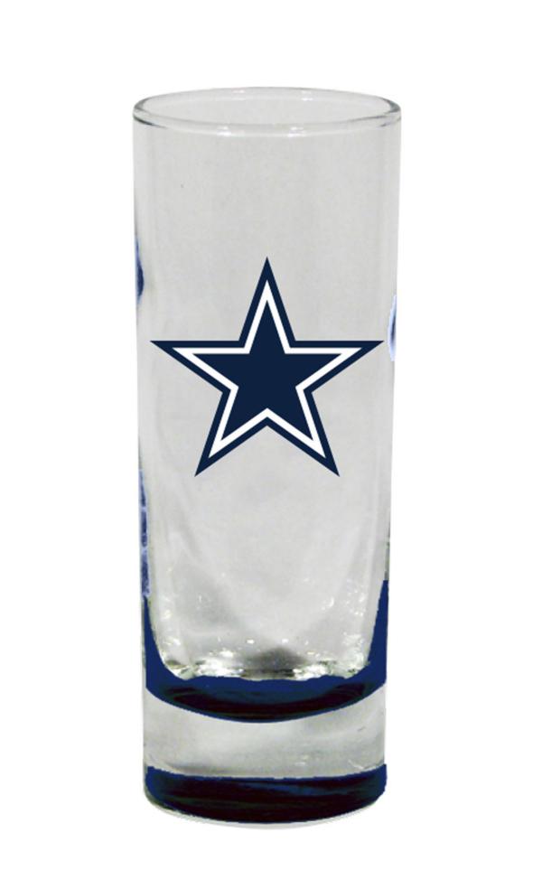 Dallas Cowboys Highlight Bottom Cordial Shot Glass