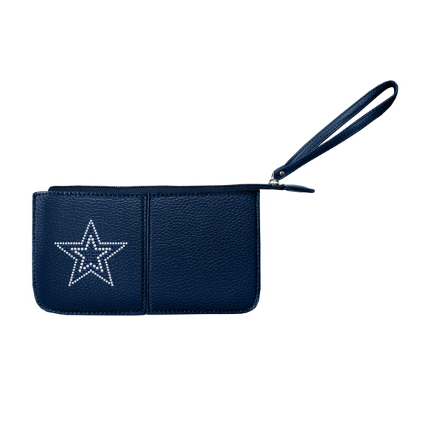 Dallas Cowboys Navy Pebble Wristlet