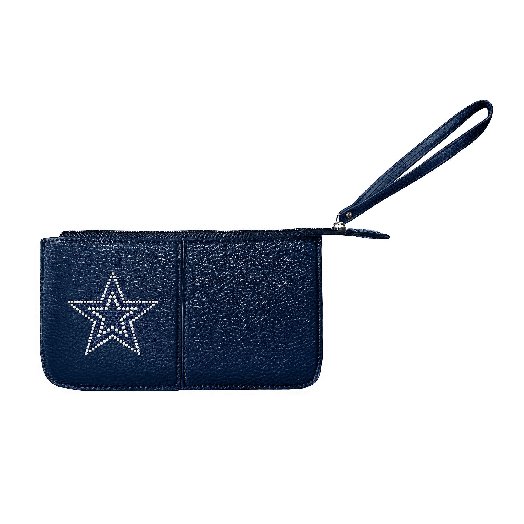Dallas Cowboys Navy Pebble Wristlet
