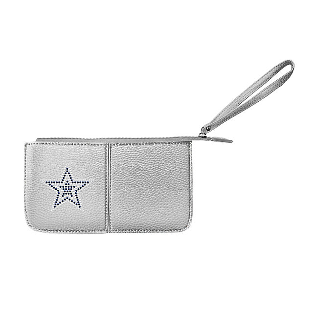 Dallas Cowboys Silver Pebble Wristlet
