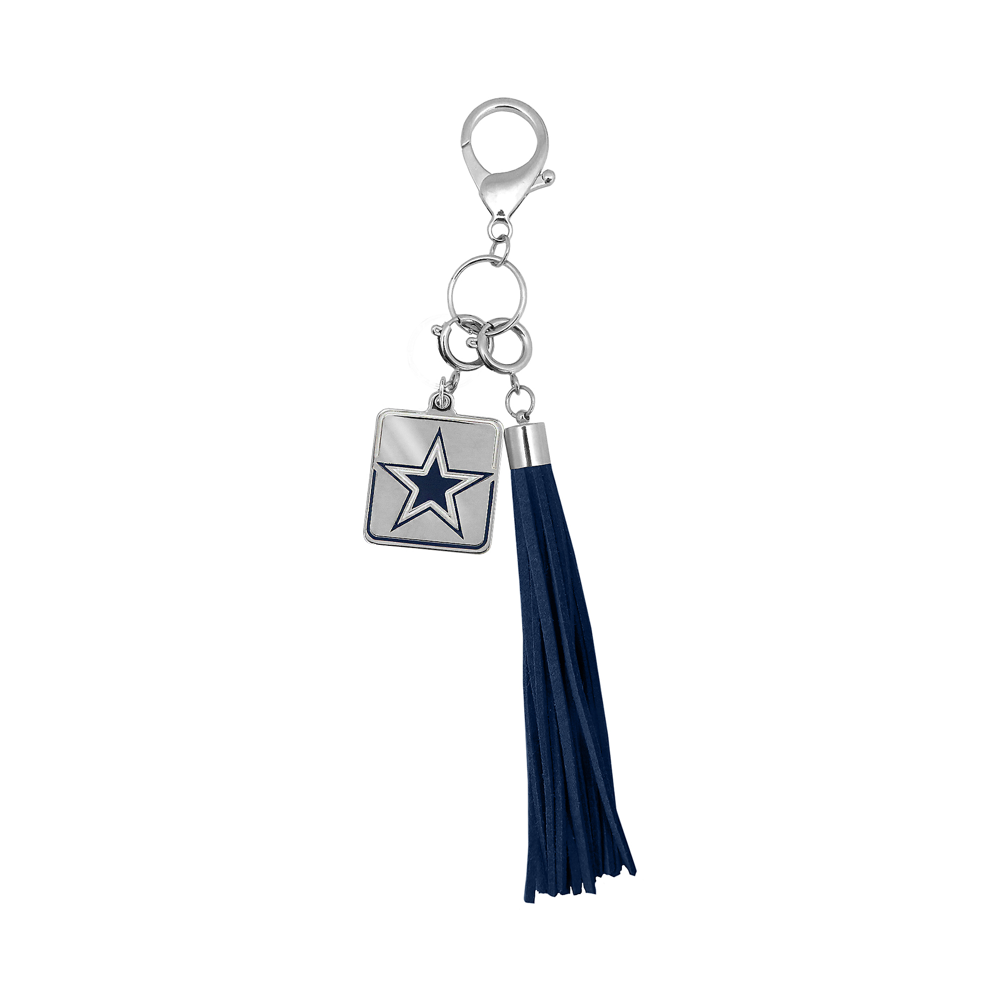 Dallas Cowboys Navy Tassel Purse Charm