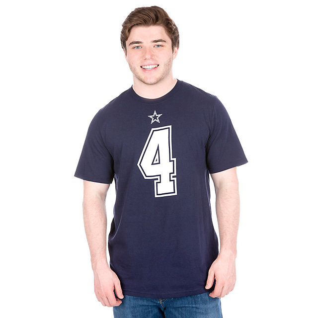 Dallas Cowboys Dak Prescott #4 Authentic Name and Number Tee