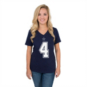 Dallas Cowboys Womens Dak Prescott #4 Authentic Name and Number Tee