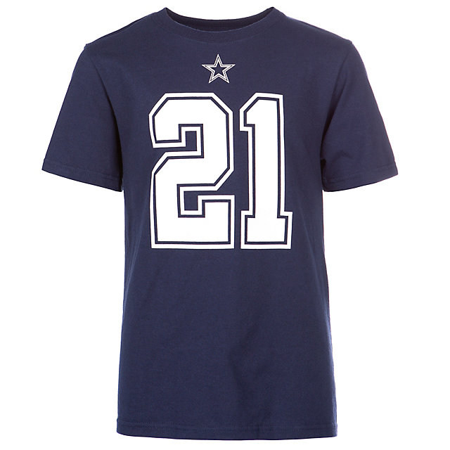 Dallas Cowboys Youth Ezekiel Elliott #21 Authentic Name and Number Tee