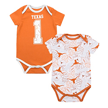 Texas Longhorns Infant Bubs 2-Pack Bodysuit Set