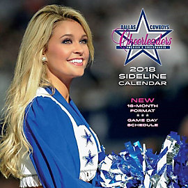 2018 12x12 Dallas Cowboys Cheerleaders Sideline Wall Calendar
