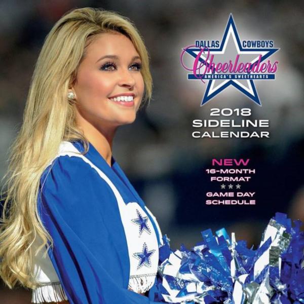 2018 12x12 Dallas Cowboys Cheerleaders Sideline Wall Calendar