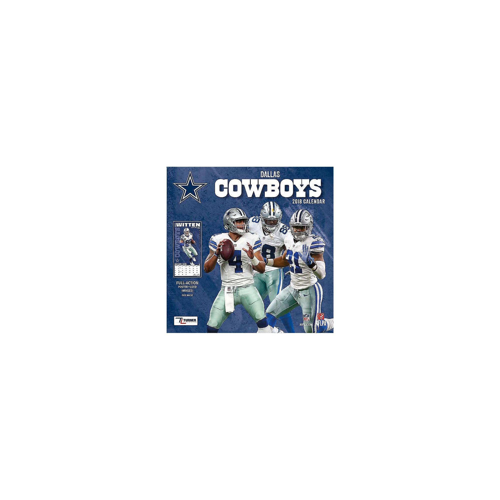 2018 12x12 Dallas Cowboys Team Wall Calendar