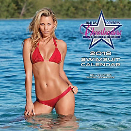 2018 15x15 Dallas Cowboys Cheerleaders Swimsuit Wall Calendar