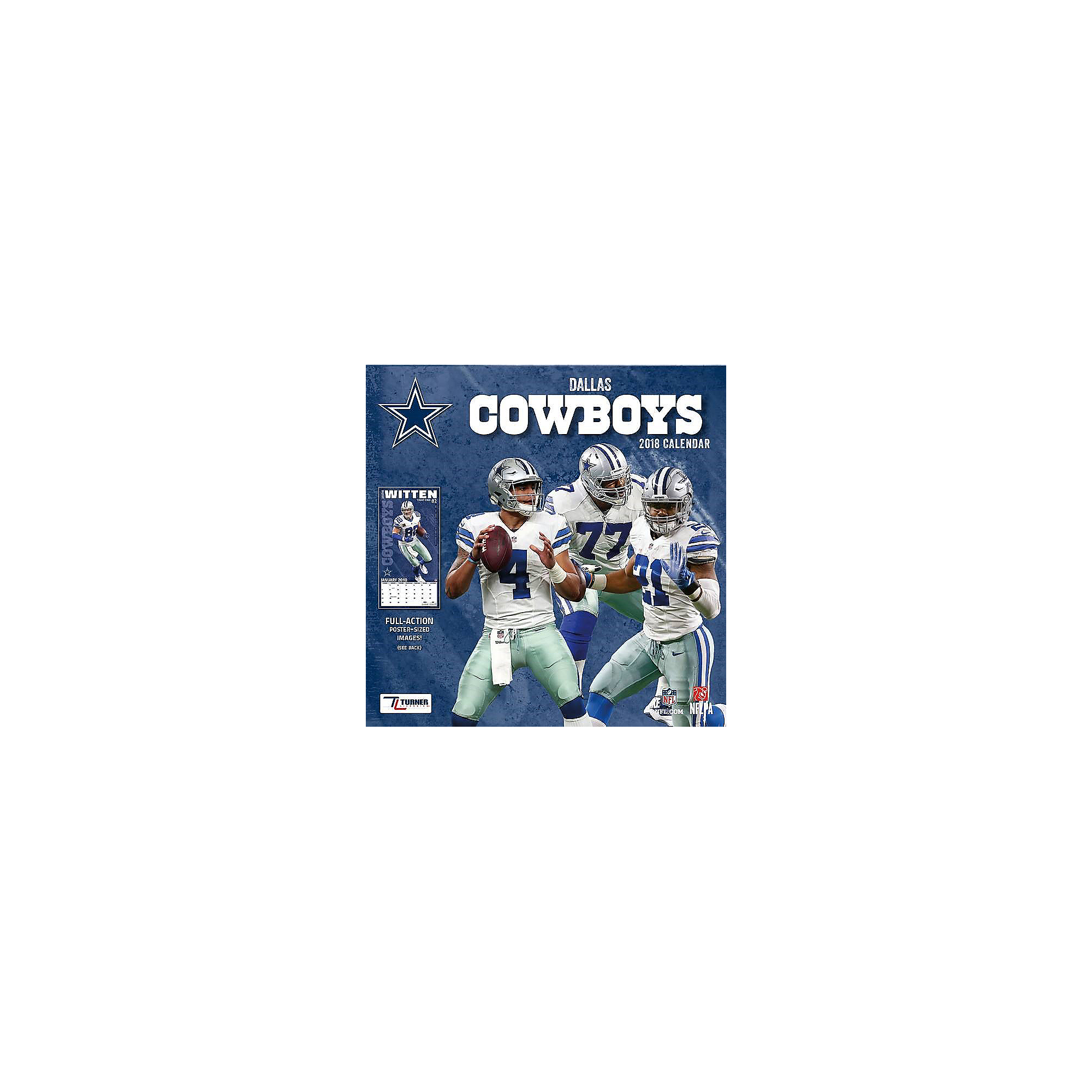 2018 7x7 Dallas Cowboys Team Mini Calendar