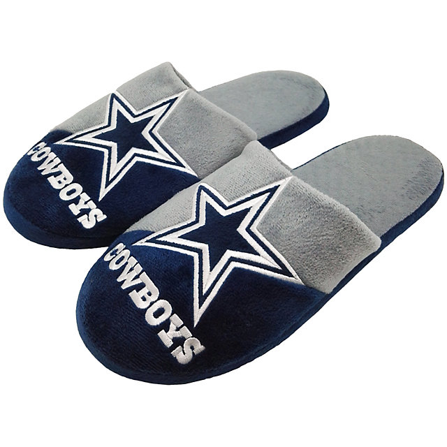 Dallas Cowboys Colorblock Slippers - Size Large