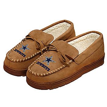Dallas Cowboys Mens Moccasin Slippers - Size Medium