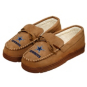 Dallas Cowboys Mens Moccasin Slippers - Size Medium