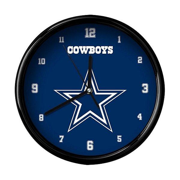 Dallas Cowboys Team Black Rim Clock