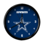 Dallas Cowboys Team Black Rim Clock