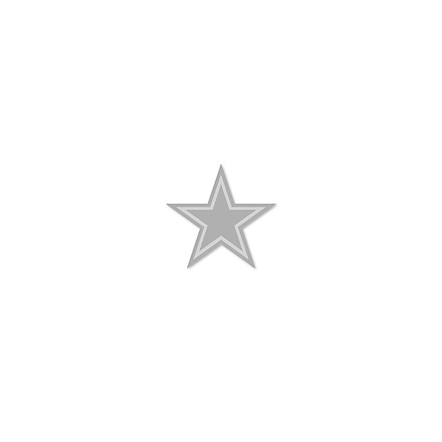 Dallas Cowboys Silver Star Pin