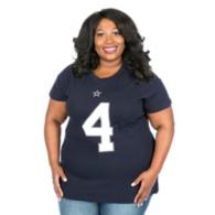 Dallas Cowboys Plus Size Dak Prescott Player Tee