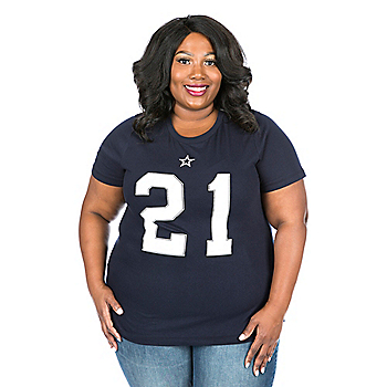 Dallas Cowboys Plus Size Ezekiel Elliott Player Tee