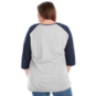 Dallas Cowboys Plus Size 3/4 Contrast Raglan Scoop Tee