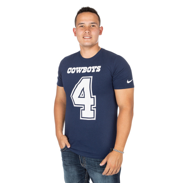 Dallas Cowboys Dak Prescott #4 Nike Player Pride 3 Tee