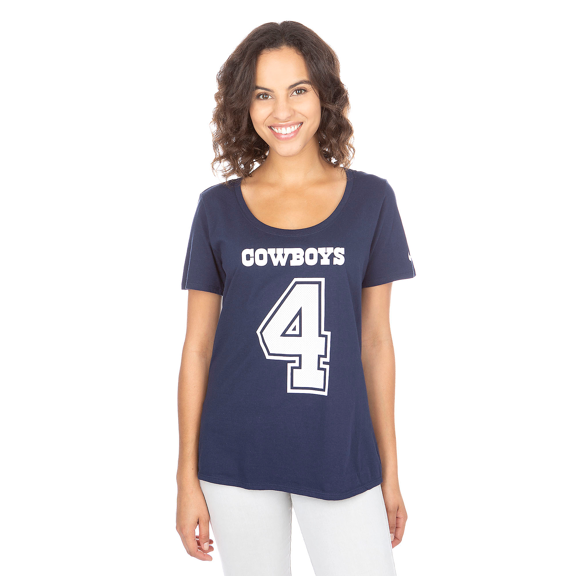Dallas Cowboys Nike Womens Dak Prescott #4 Player Pride Tee