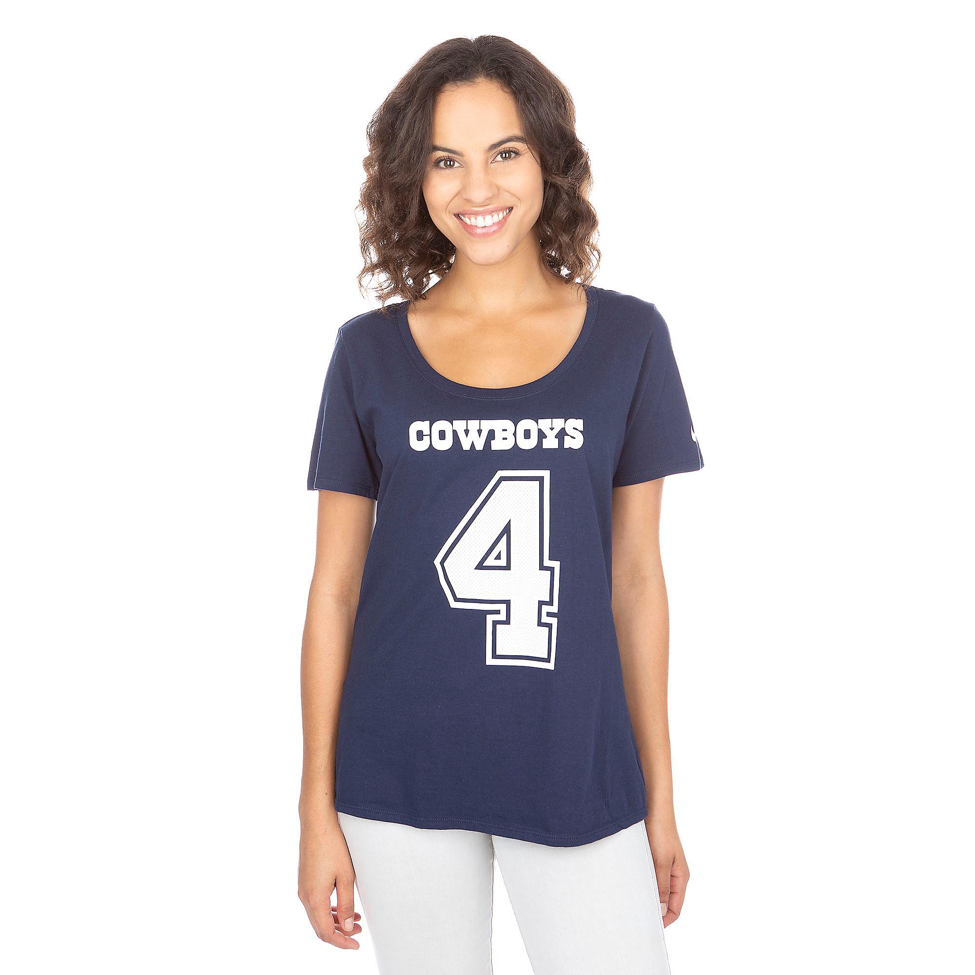 Dallas Cowboys Nike Womens Dak Prescott #4 Player Pride Tee