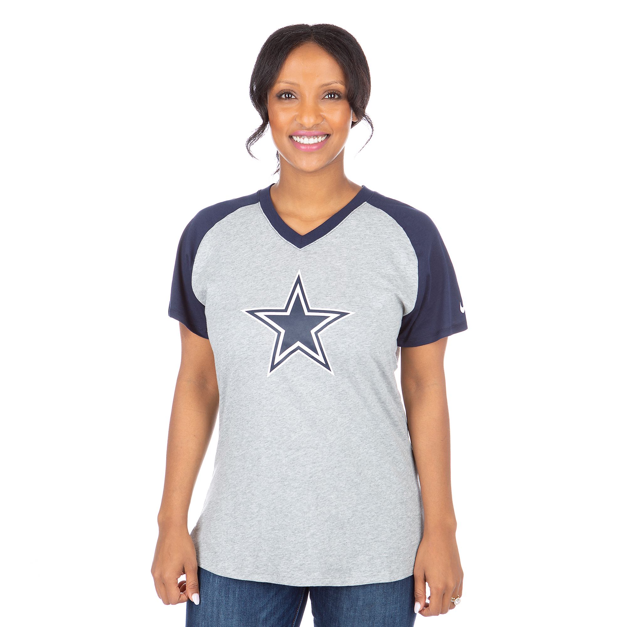 Dallas Cowboys Nike Fan Mid V Tee